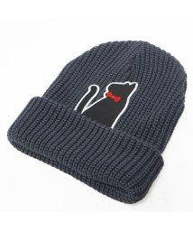 Keys/帽子 ニット帽 メンズ レディース ニット キャップ ワッチ リブニット ネコ ワッペン キーズ Keys/503025967