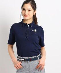 adabat/【吸水速乾/UVカット】襟裏フラワープリント五分袖ポロシャツ/503029639
