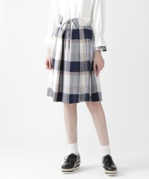 BLUE LABEL CRESTBRIDGE/クレストブリッジチェックエアリーツイルスカート/503030134