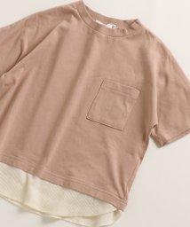 pairmanon/ユニセックス ボタン付き 裾 ワッフル サーマル 半袖 Tシャツ カットソー/502962261