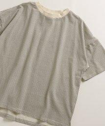 pairmanon/ビックシルエット ボーダー プリント ベーシック 半袖 ワイド Tシャツ カットソー/502962263