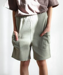 pairmanon/ユニセックス ワッフル サーマル ポケット ハーフ パンツ/502976025