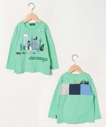 kladskap/街×電車ブロック切り替えTシャツ/503001105