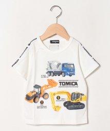 kladskap/【トミカコラボ】 工事現場働く乗り物プリントTシャツ/503001106