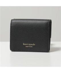 kate spade new york/【Kate spade(ケイトスペード)】PWRU7238 001 sylvia レザー 三つ折り財布 ミニ財布 豆財布 black レディース/503020047