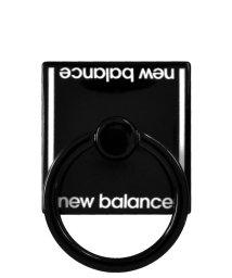 Mーfactory/md-74264-1 New Balance [スマホリング/ベーシック/ブラック]/503021612