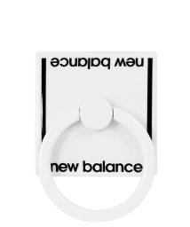 Mーfactory/md-74264-2 New Balance [スマホリング/ベーシック/ホワイト]/503021613