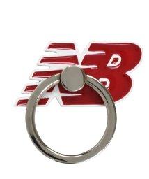 Mーfactory/md-74265-3 New Balance [スマホリング/フライングロゴ/レッド]/503021618