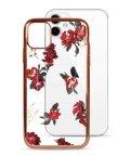 Mーfactory/74490-1 iPhone 11 rienda[メッキクリアケース/Red Flower/レッド]/503021623