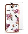 Mーfactory/74490-3 iPhone 11 rienda[メッキクリアケース/Brilliant Flower/バーガンディー]/503021625