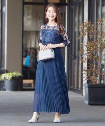 form forma/【WEB限定】刺繍&プリーツロングドレス/503024101