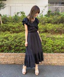 31 Sons de mode/【セットアップ対応商品】コットン刺繍切替スカート /503029385