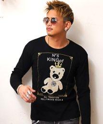 LUXSTYLE/KINGベアーセレブプリントロンT/Tシャツ メンズ ロンT クルーネック プリント BITTER ビター系/503030871