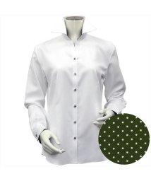 BRICKHOUSE/シャツ 長袖 形態安定 スキッパー衿 透け防止 レディース ウィメンズ/503030879