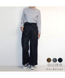 Bleu Melange/アクセントリボン付きワイドパンツ/503031312