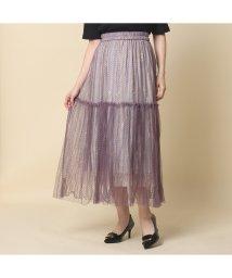 Rose Tiara(L SIZE)/スカートチュール×レースプリーツスカート/503031621