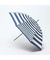 SESTO/セスト SESTO PUコーティング加工のボーダー柄日傘 (BLUE)/503034178