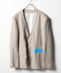 JOURNAL STANDARD/KUDOS LINEN NO COLLAR JACKET/503035758