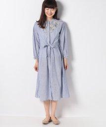 Afternoon Tea LIVING/リネン混刺繍ワンピース/502987499