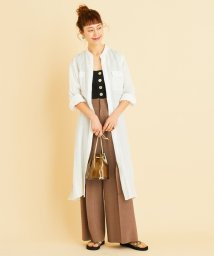 BEAUTY&YOUTH UNITED ARROWS/BY∴ リネンバンドカラーシャツワンピース -ウォッシャブル-/503004930