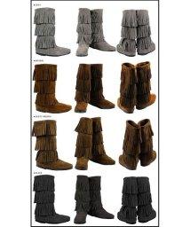 MINNETONKA/ミネトンカ MINNETONKA カーフ ハイ 3レイヤー ブーツ CALF HI 3-LAYER FRINGE BOOTS レディース/503017002