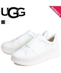 UGG/UGG アグ スニーカー スリッポン リブ トレーナー レディース 厚底 WOMENS LIBU TRAINER ブラック ホワイト 黒 白 1106621 [/503018370