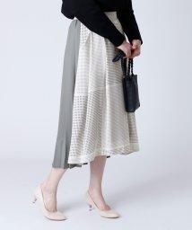 LASUD/[soeur7] ドット×プリーツ 異素材スカート/503030987