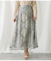 Alluge/ペイズリープリントオーガンジースカート/503036087