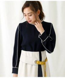 Alluge/配色刺繍デザインブラウス/503036096