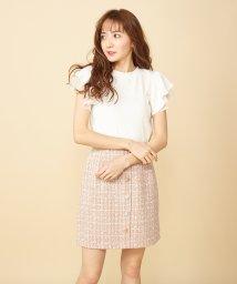 MIIA/マルチボタンファンシーツイード台形スカート/503038813