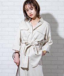 coen/【セットアップ対応】ウエストベルトオーバーシャツジャケット/503039834