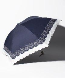 "LANVIN Collection(umbrella)/LANVIN COLLECTION 晴雨兼用折りたたみ傘 ""バイカラーローズ刺繍""/502931697"