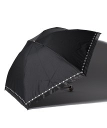 "LANVIN Collection(umbrella)/LANVIN COLLECTION 晴雨兼用折りたたみ傘 ""ストライプオーガンジー刺繍""/502931715"