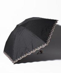 "LANVIN Collection(umbrella)/LANVIN COLLECTION 晴雨兼用折りたたみ傘 ""ドット 刺繍""/502931717"