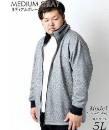 MARUKAWA/【LOUIS CHAVLON】 大きいサイズ 無地 ボリュームネック フルジップパーカー 春/502976461