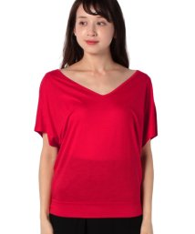 BENETTON (women)/リヨセルVネックオーバーサイズTシャツ・カットソー/503007116