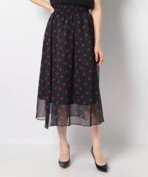 Mint Glam/【洗える】【セットアップ対応】楊柳ドットプリントスカート/503020249