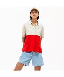 LACOSTE/リラックスフィットカラーブロック軽量ピケポロシャツ (半袖)/503040239