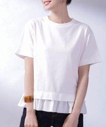 nano・universe/MUVEIL WORK×AntiSoaked切替Tシャツ/503040532