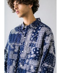 monkey time/<monkey time> BROAD PAISLEY PRINT OVER SIZED CPO/ペイズリーシャツ/503040582