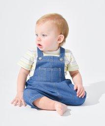 branshes/ボーダーTシャツ&ショートオールセット(70~80cm)/503040902