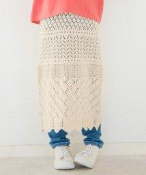 branshes/透かし編みニットスカート(M~XL)/503040920
