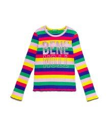 BENETTON (UNITED COLORS OF BENETTON GIRLS)/リブマルチボーダー長袖Tシャツ・カットソー/503019851