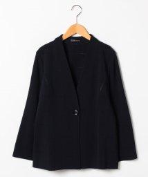 LAPINE ROUGE/【大きいサイズ】ミラノリブ チェック柄ニットジャケット/503023553