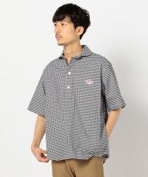 GLOSTER/【DANTON/ダントン】 丸襟OX半袖 チェック/ストライプ シャツ #JD-3568 TRD/503028004
