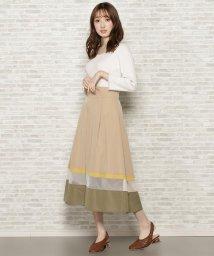 WILLSELECTION/タフタシアー配色スカート/503028671