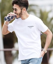 JIGGYS SHOP/マルチロゴパターンTシャツ / ティーシャツ 半袖 メンズ ロゴT uネック 半袖Tシャツ プリント ロゴ/503042611