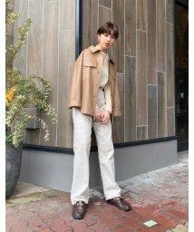 SHEL'TTER SELECT/フェイクレザーシャツジャケット(F Leather Shirts Jacket)/503043368