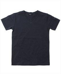 GLAZOS/天竺・ベーシックVネック半袖Tシャツ/503044339