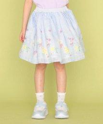 KUMIKYOKU KIDS/【110-140cm】シアーパネルフラワー スカート/503046098